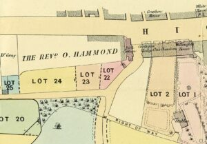 1884 brochure, showing Cardigan Lodge and surrounding properties (see below or click image for source and acknowledgements etc., ref. Image 3).