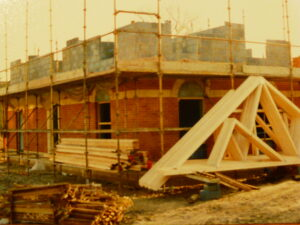 The oroginal Oakfield Surgery under construction (see above or click image for source and acknowledgements etc., ref. Image 4).