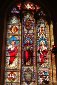A stained glass window erected in memory of Floyd Peck at Sale Cathedral in Australia...