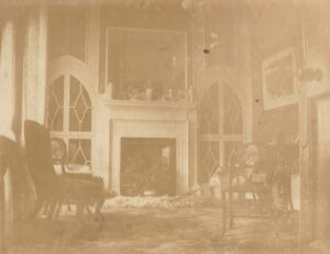 The library inside Lushington House during the Gray's time there - so some time between 1866 and 1943, most likely from the middle of that range (see below or click image for source and acknowledgements etc., ref. Image 2).