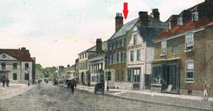Mentmore House on Newmarket High Street (see below or click image for source and acknowledgements etc., ref. Image 1).