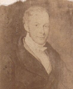An old photograph of an even older painting, thought to be of Robert James Peck in the 1840s (see below or click image for source and acknowledgements etc., ref. Image 1).