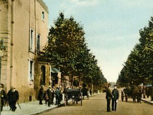 The Avenue in 1905, showing some activity outside Cardigan Lodge, when it would have been the surgery of Dr Woollett (see below or click image for source and acknowledgements etc., ref. Image 4).