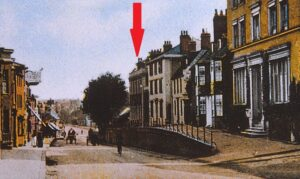 Lushington House on The Terrace in Newmarket High Street, at a time when it would have been lived in by the Grays (see below or click image for source and acknowledgements etc., ref. Image 1).