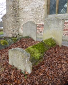 In the foreground the grave of William and Sarah Fyson - these graves are immediately behind from where the image above right was taken - their son Richard's grave is in the background (see below or click image for source and acknowledgements etc., ref. Image 2).