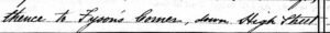 Fyson's Corner mentioned on the 1871 census (see below or click image for source and acknowledgements etc., ref. Image 3).
