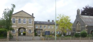 The old Newmarket Union workhouse up Exning Road - see map below, and also see the page on Newmarket Hospital (see below or click image for source and acknowledgements etc., ref. Image 1).
